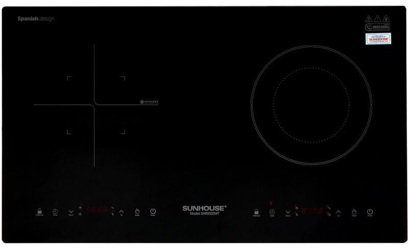 Mặt bếp bằng chất liệu kính cường lực cao cấp - Bếp từ hồng ngoại Sunhouse SHB9105MT