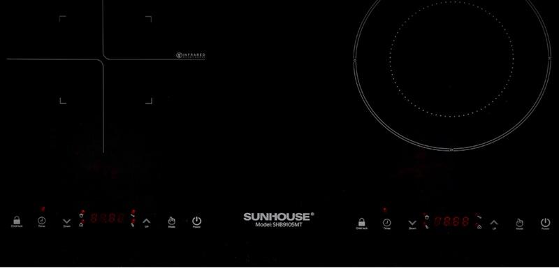 Bảng điều khiển cảm ứng, màn hình hiển thị rõ nét - Bếp từ hồng ngoại Sunhouse SHB9105MT