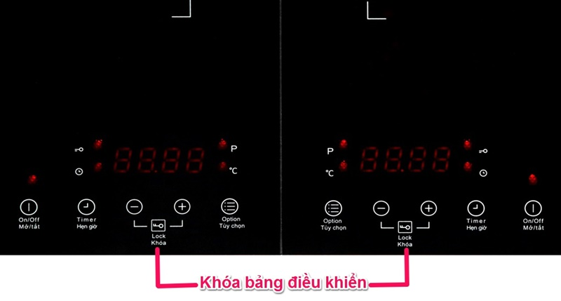 Trang bị khóa bảng điều khiển tiện dụng - Bếp từ đôi TEKA DS3502-P KG