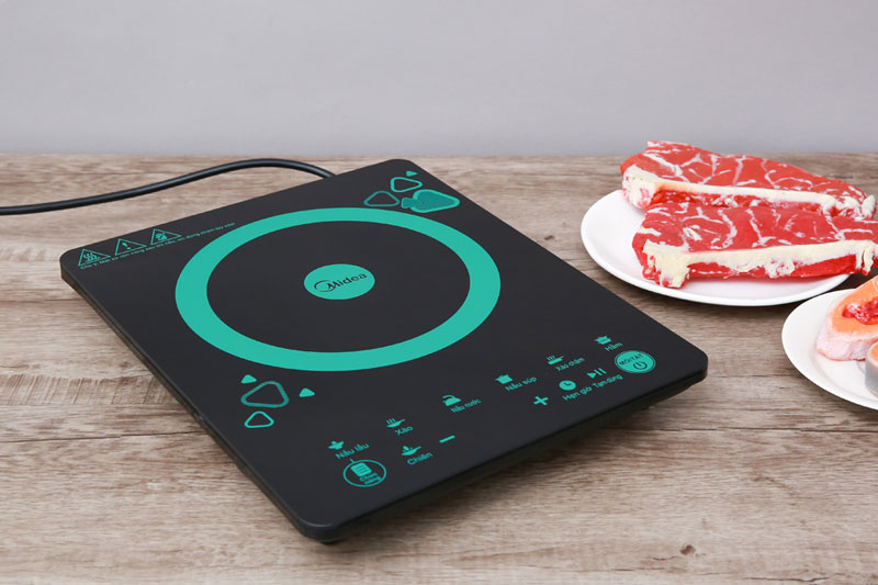 Thiết kế sang trọng, kiểu bếp từ đơn nhỏ gọn - Bếp từ Midea MI-T2120DD