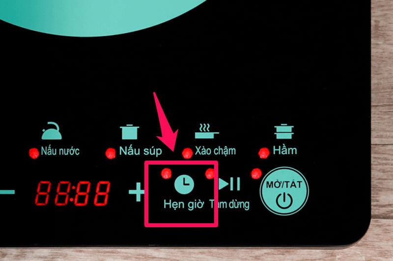Chế độ hẹn giờ nấu tối đa đến 3 tiếng - Bếp từ Midea MI-T2120DD