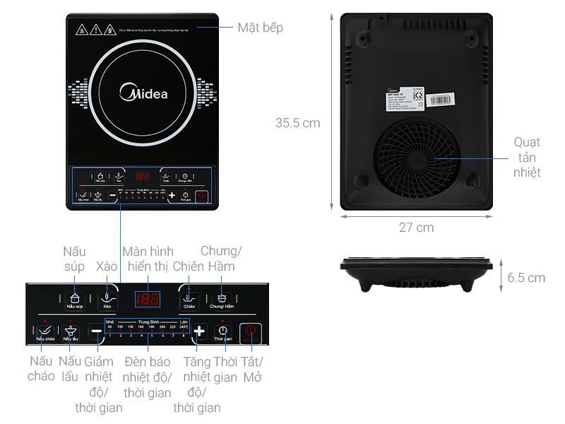 Thông số kỹ thuật Bếp từ Midea MI-B1920DM