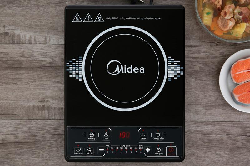 Mặt bếp Hanson sáng bóng - Bếp từ Midea MI-B1920DM