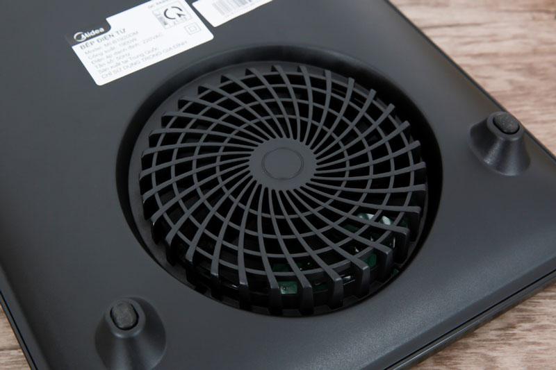 Quạt tản nhiệt lớn, làm mát bếp hiệu quả - Bếp từ Midea MI-B1920DM