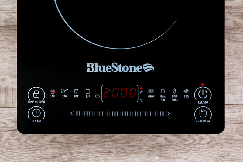 Bảng điều khiển cảm ứng chỉ dẫn tiếng Việt siêu nhạy - Bếp từ BlueStone ICB-6619