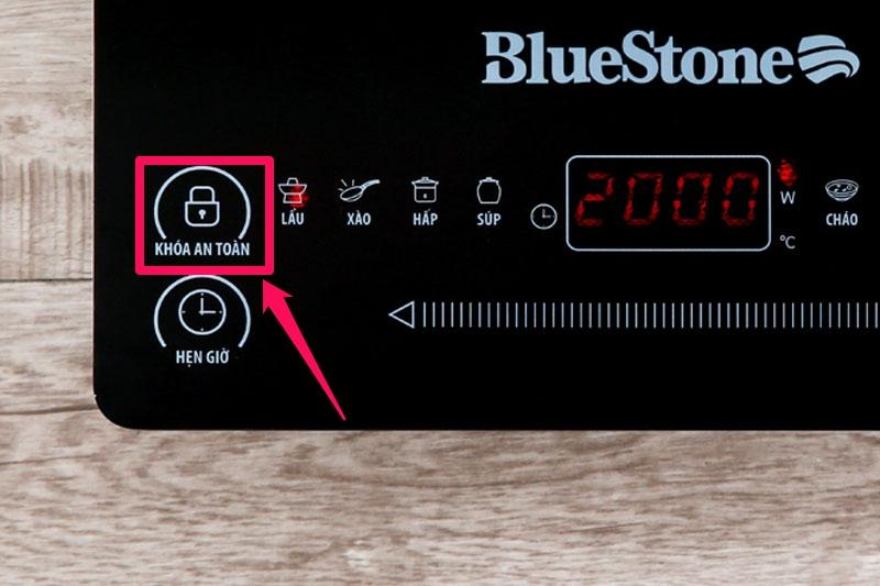 Có khóa an toàn tiện dụng - Bếp từ BlueStone ICB-6619