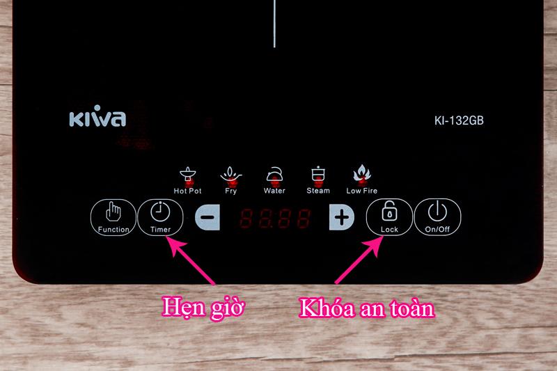 Chức năng phụ trợ tiện lợi - Bếp từ Kiwa KI-132GB