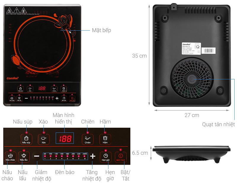 Thông số kỹ thuật Bếp điện từ Comfee CI-BD1920C