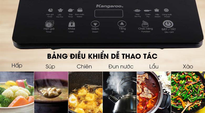Bảng điều khiển dễ dùng - Bếp điện từ Kangaroo KG18IH2