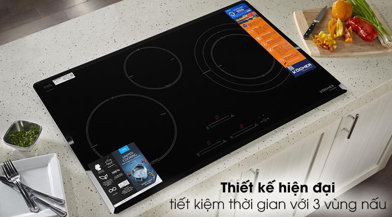 Bếp từ 3 vùng nấu Kocher DI-855GE - Có 3 vùng nấu
