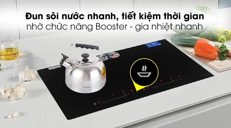 Chức năng Booster gia nhiệt nhanh - Bếp từ đôi Kocher DI-628