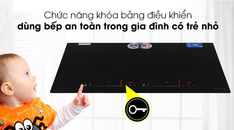 Khóa bảng điều khiển Bếp từ đôi Kocher DI-628