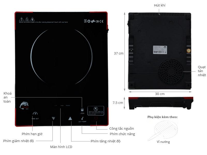 Thông số kỹ thuật Bếp hồng ngoại IRUKA I-05