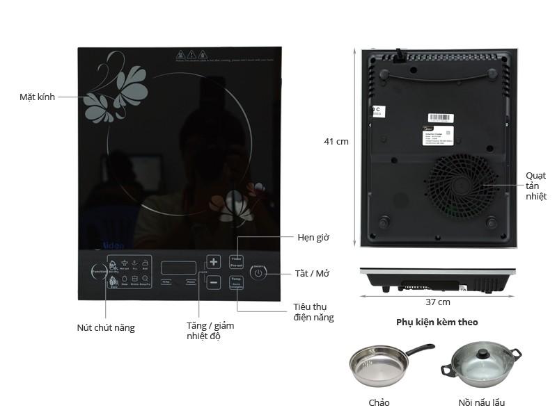 Thông số kỹ thuật Bếp từ Midea MI-SV21DM