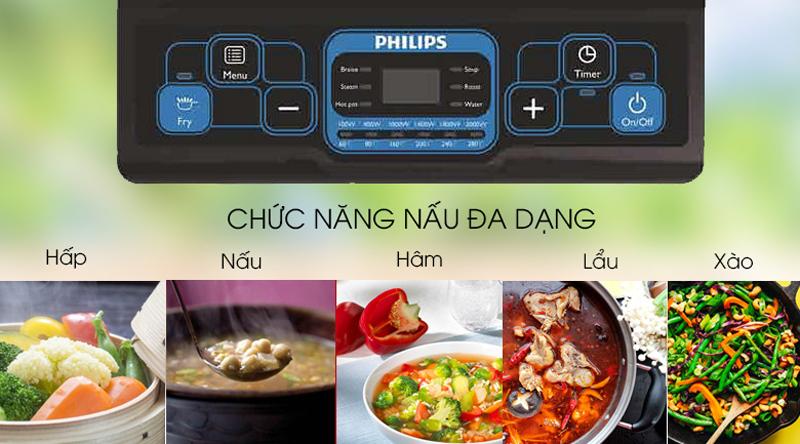 Các chế độ nấu tiện dụng - Bếp từ Philips HD4921