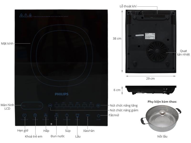 Thông số kỹ thuật Bếp từ Philips HD4932