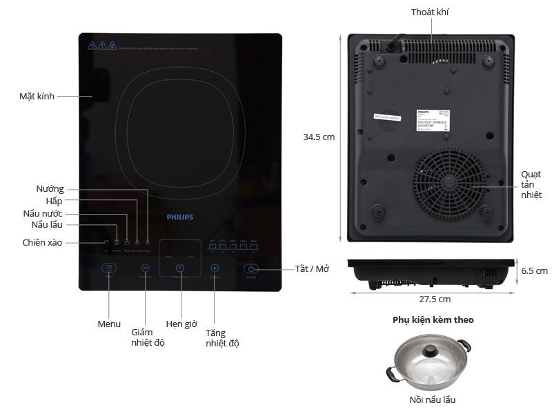 Thông số kỹ thuật Bếp từ Philips HD4911