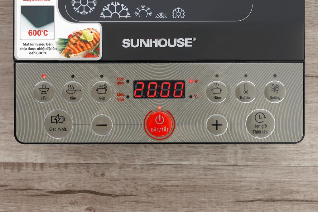 Bảng điều khiển - Bếp từ Sunhouse SHD 6152
