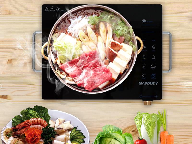 5 chế độ nấu đa năng, công suất 2000 W