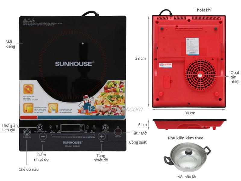 Thông số kỹ thuật Bếp từ Sunhouse SH 6860