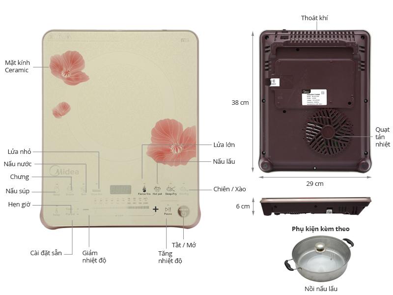 Thông số kỹ thuật Bếp từ Midea MI-SV21DW