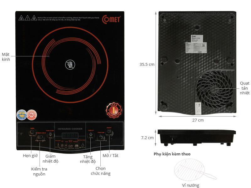 Thông số kỹ thuật Bếp hồng ngoại Comet CM5516