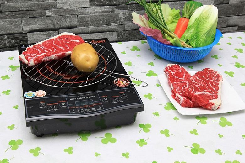Có thể nướng trực tiếp thực phẩm trên mặt bếp