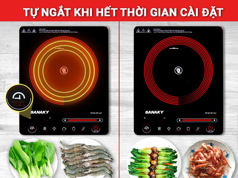 Hẹn giờ nấu thông minh cho phép bạn tùy chọn thời gian nấu linh hoạt