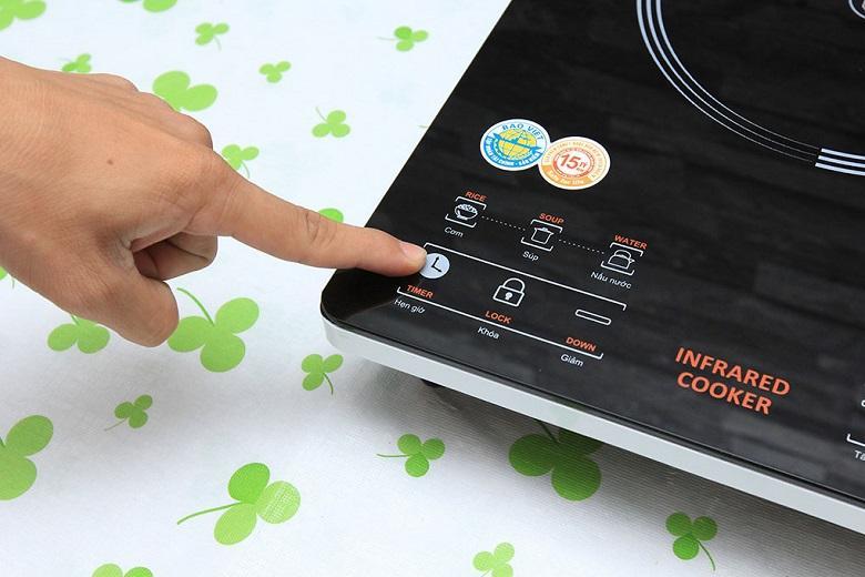 Chức năng hẹn giờ nấu thông minh cho khả năng tắt bếp tự động sau khoảng thời gian bạn mong muốn