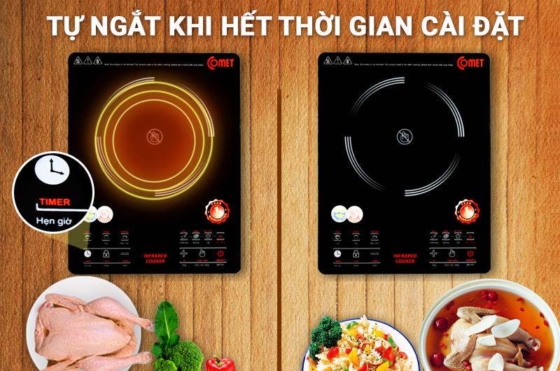 Các tính năng đi kèm thêm hữu ích và làm tăng giá bán bếp từ