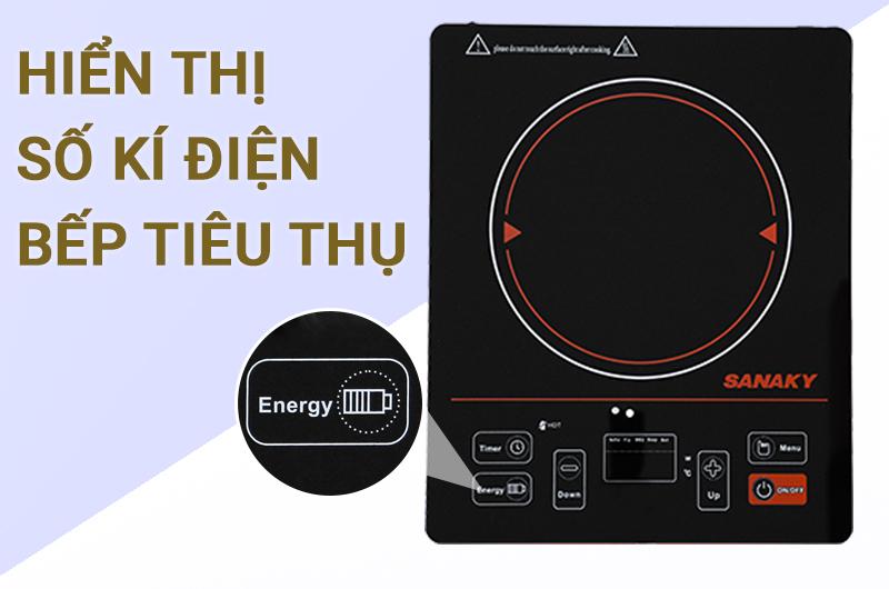 Chế độ báo điện năng - Bếp hồng ngoại Sanaky SNK-2101HG