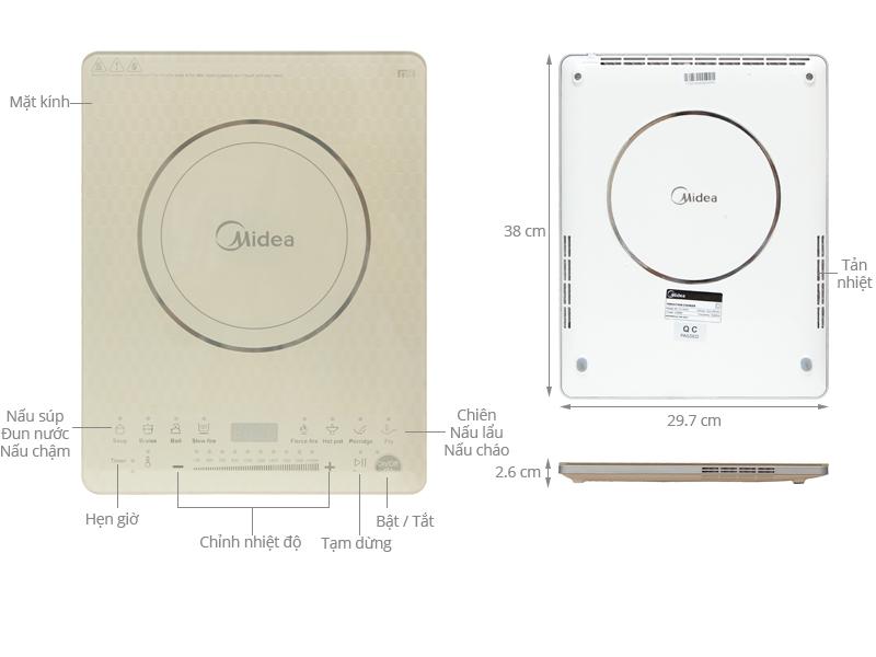 Thông số kỹ thuật Bếp từ Midea MI-T2114DD