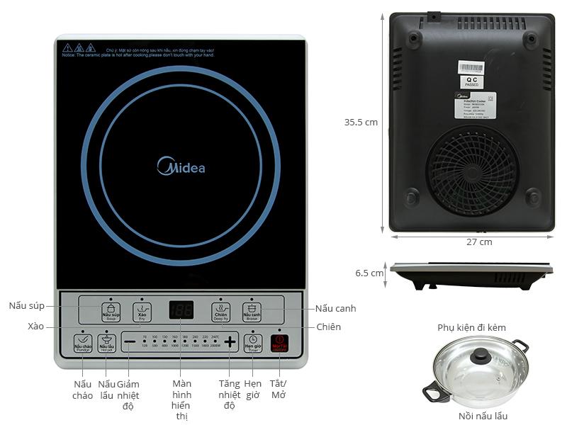 Thông số kỹ thuật Bếp từ Midea MI-B2015DE