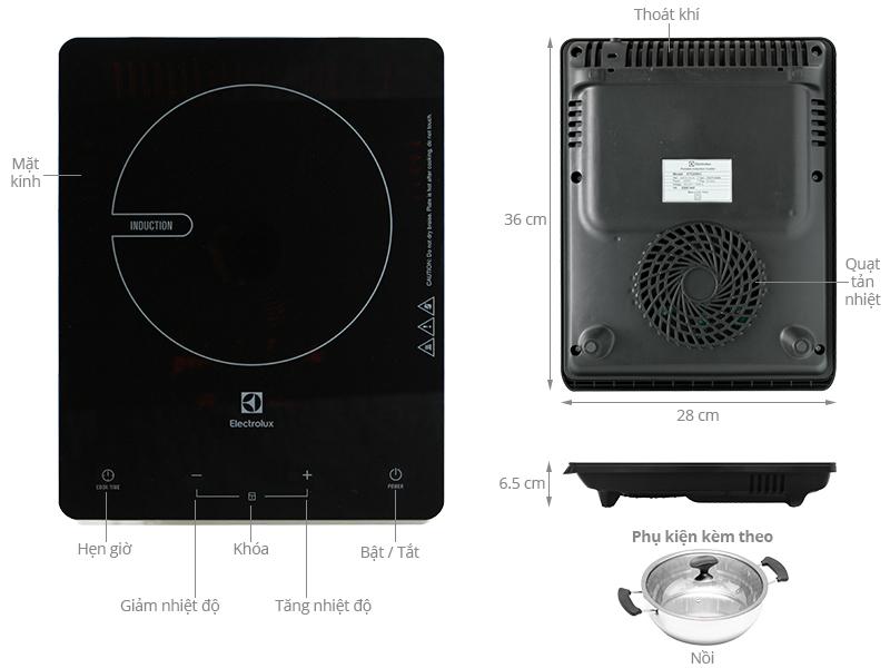 Thông số kỹ thuật Bếp từ Electrolux ETD29KC
