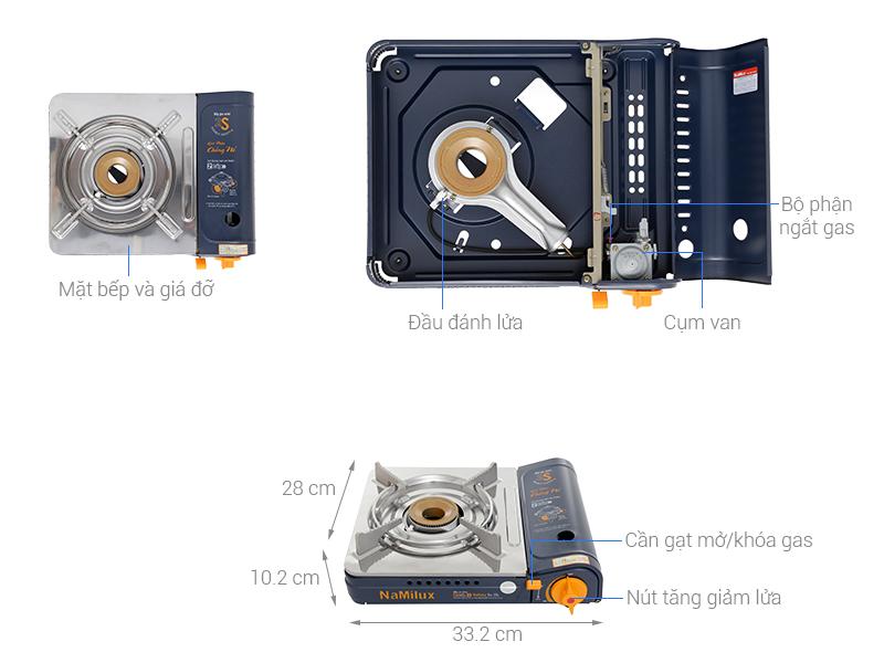 Thông số kỹ thuật Bếp ga mini Namilux NH-054PS