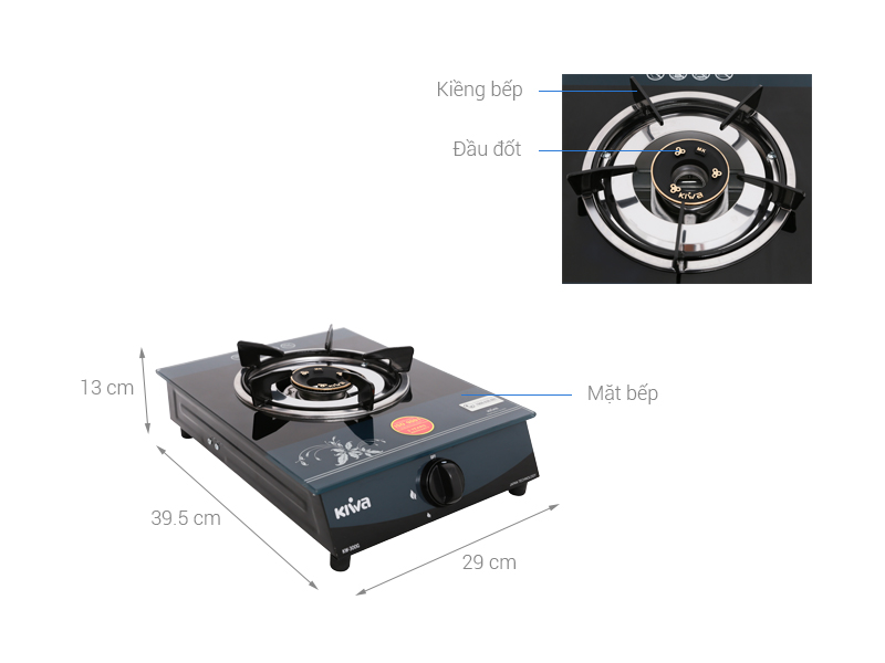 Thông số kỹ thuật Bếp ga đơn Kiwa KW-300G