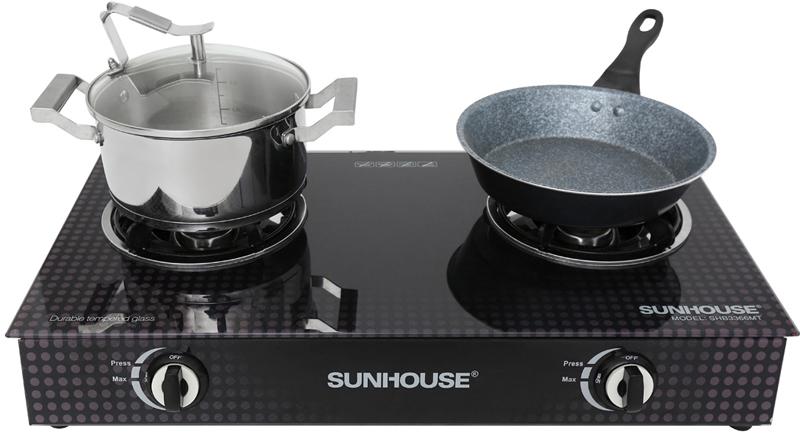Mẫu mã đẹp - Bếp gas đôi Sunhouse SHB3366MT