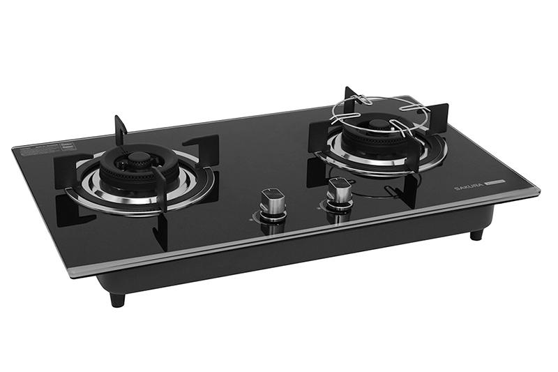 Bếp gas âm Sakura SG-2568GB - Mặt kính cường lực dễ vệ sinh