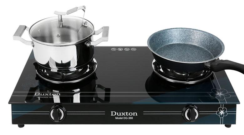 Có 2 vùng nấu - Bếp gas đôi Duxton DG-368