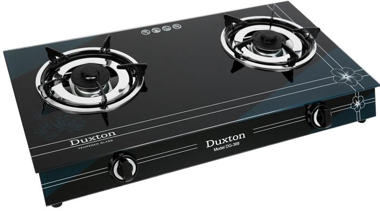 Mặt bếp gas bằng kính cường lực sang trọng - Bếp gas đôi Duxton DG-368