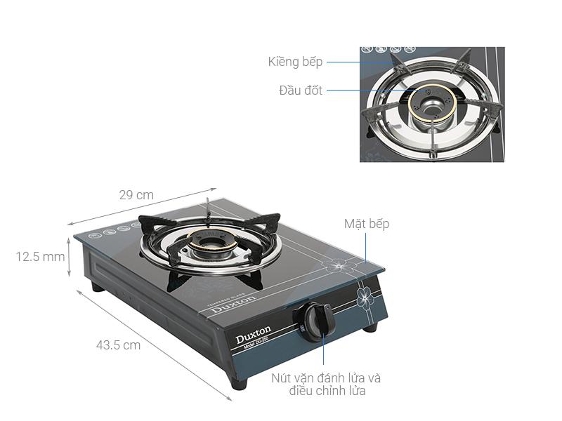 Thông số kỹ thuật Bếp ga đơn Duxton DG-250