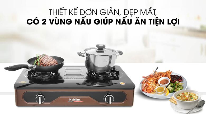 Gọn đẹp, 2 vùng nấu - Bếp ga Namilux NH-D3036APF