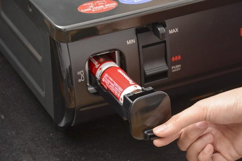 Đánh lửa IC dùng pin 1.5 V dễ thay thế khi hết pin