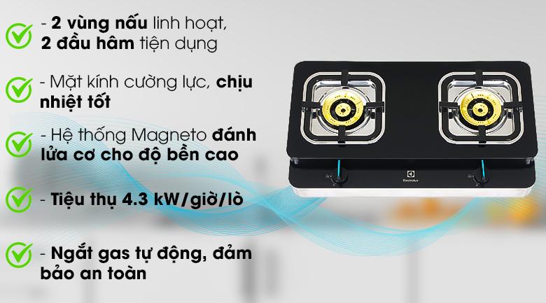 Bếp ga đôi Electrolux ETG729GKTR