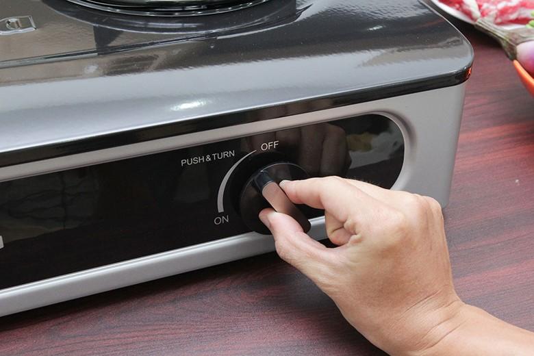 Núm vặn chỉnh độ lửa dễ sử dụng