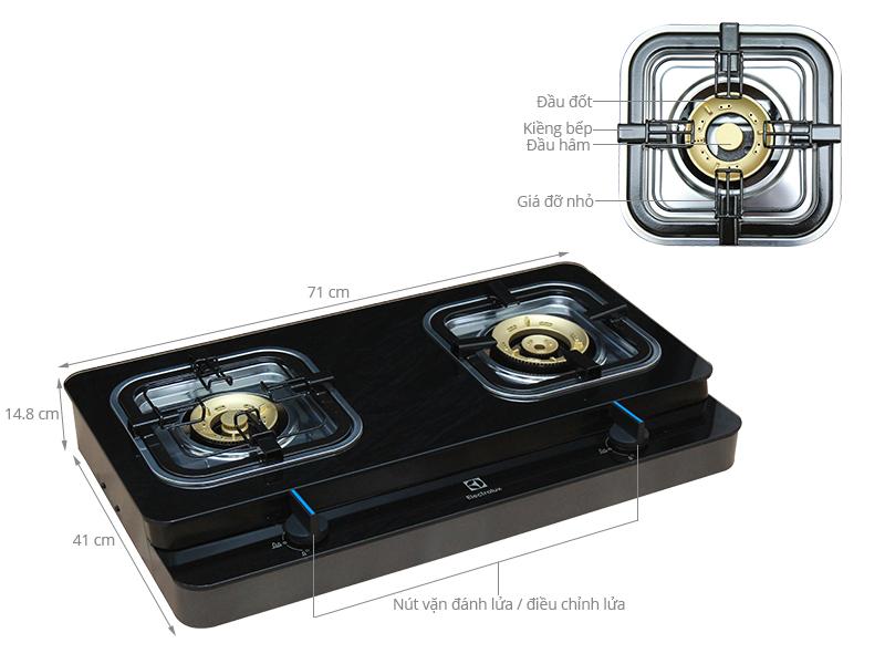 Thông số kỹ thuật Bếp gas Electrolux ETG728GKR