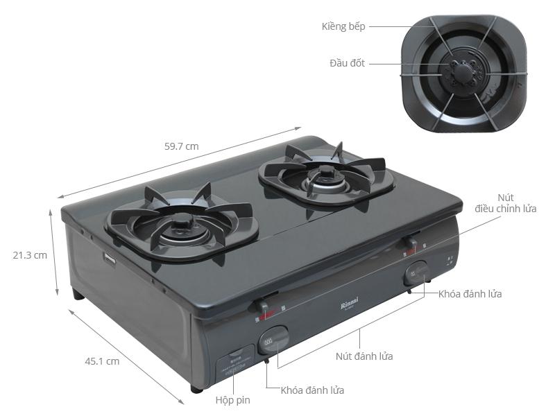 Thông số kỹ thuật Bếp gas Rinnai RJ-8600(BK)