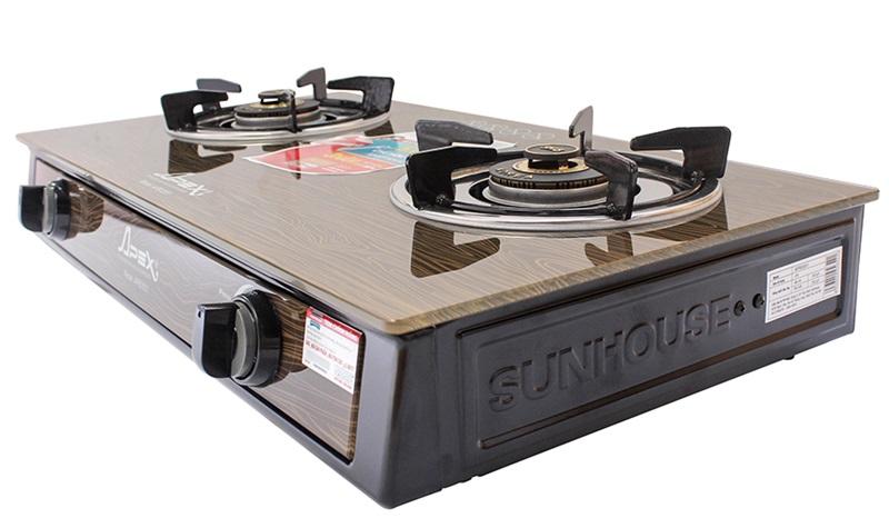 Mặt bếp gas bằng kính cường lực - Bếp gas Sunhouse Apex APB3551