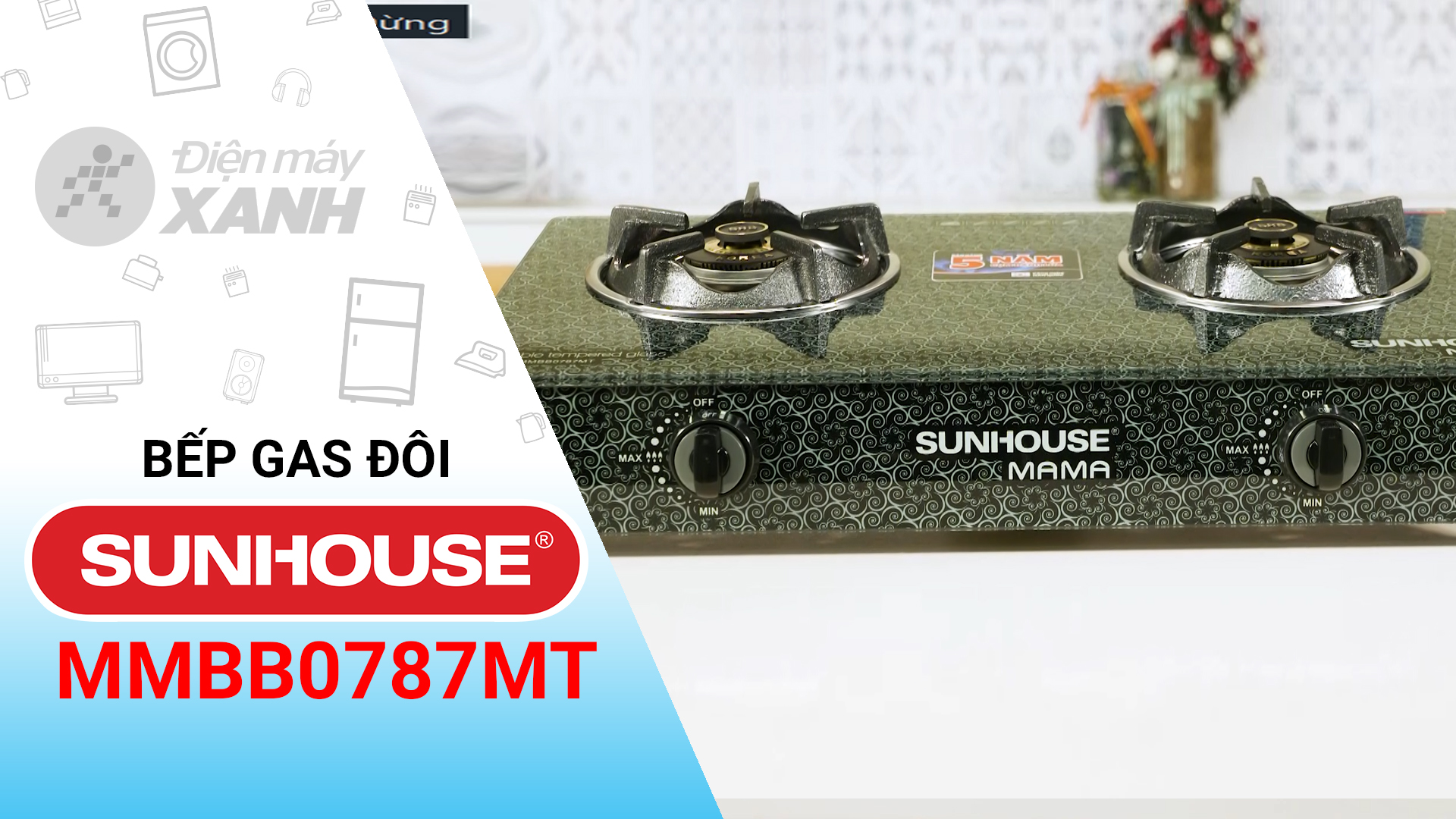 Bếp ga đôi Sunhouse Mama MMBB0787MT