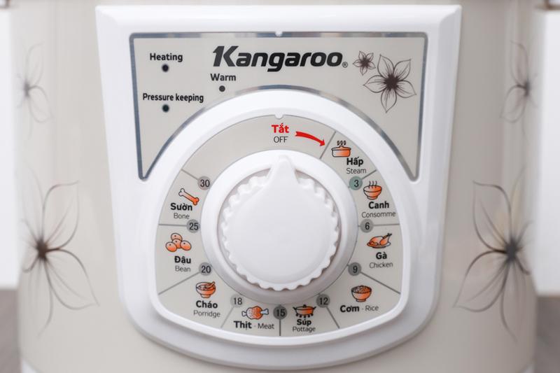 Bảng điều khiển - Nồi áp suất điện Kangaroo KG286